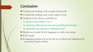 commercial risk model credit risk analysis of commercial banks of india