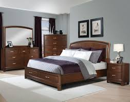 contemporary oak bedroom furniture wall mounted wooden brown