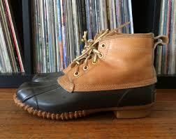 womens ll bean boots size 9 ll bean duck boots etsy