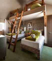 dormer bedroom kids transitional with loft in themed wall decals