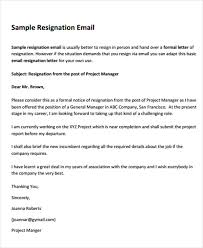 8 basic resignation letters free sample example format