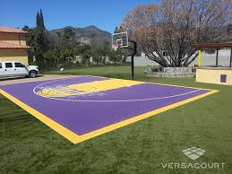 Basketball Court In Backyard Cost by Tour Greens Atlanta Installer Of Outdoor Basketball Courts