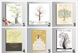 diy wedding signature book personalized wedding fingerprint tree