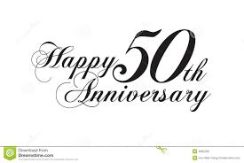 fiftieth anniversary happy 50th anniversary stock illustration image of soulmates