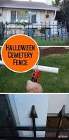 how to make a cheap cemetery fence for halloween foam sheets