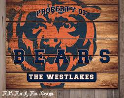 innovative ideas chicago bears wall art sweet design chicago cubs