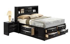 Bookcase Headboard Queen Queen Bed With Storage And Bookcase Headboard Design A Queen