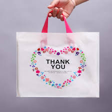 37 38cm plastic gift bag for wedding gift package bags with