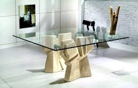 Bases For Glass Dining Room Tables Fascinating Dining Table Base Granite Top Ideas Glass Dining Room