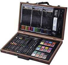amazon com deluxe 80 pieces sketch and drawing pencil set kit