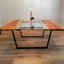 Custom Made Dining Room Furniture Custom Made Pecan Glass Square Dining Table More Amor Decor
