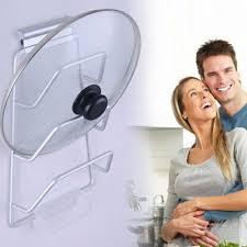 kitchen cabinet door pot and pan lid rack organizer new aluminum kitchen cabinet door pot pan lid holder space
