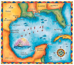 map of the gulf of mexico map of the gulf of mexico digital by thermes