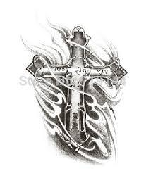 tattoo cross dragon personalily cross dragon temporary tattoo wartproof stickers for men