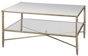 Gold Table L Nicolina Coffee Table Gold Leaf And Glass L Thippo