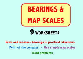 bearings and map scales 9 worksheets by skillsheets teaching