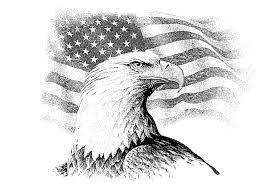 eagle u0026 flag jpg lineart patriotic pinterest eagle