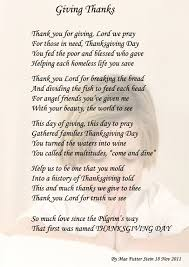 Thanksgiving Poems Friends Giving Thanks Spiritual Poetry