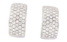 back diamond earrings buy 1 95 carats 18k white gold latch back diamond earrings online