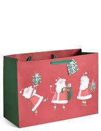 santa extra large christmas gift bag m u0026s