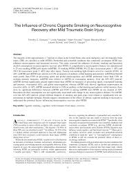 the influence of chronic cigarette smoking on neurocognitive