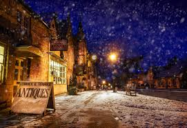 Winter Houses by Wallpaper Winter Snow Street Night Cities Houses