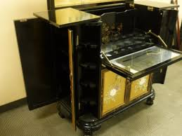 Asian Bar Cabinet Black Lacquer Bar Cabinet Furniture Pinterest Asian Bar