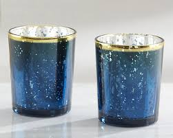 mercury tea light holders blue mercury glass tea light holders blue candle favors