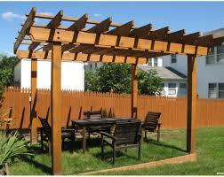 pergola awesome garden design withoversized diy timber frame
