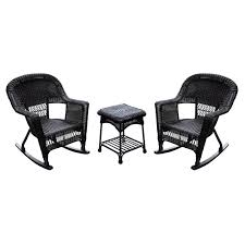 jeco 3 pc wicker rocker chair set with side table hayneedle