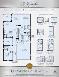 Floor Plans Texas Magnolia Dream Finders Homes