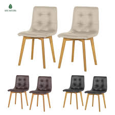 Esszimmerstuhl Retro Leder Stühle Aus Leder Mit 2 Teile Fürs Esszimmer Ebay