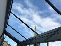 glass box architecture lean to glass roofing systems