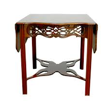 chinese chippendale drop leaf table by baker chairish
