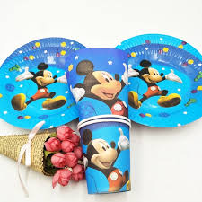 mickey mouse party favors 40pc set theme cup plate napkin mickey mouse party supplies for