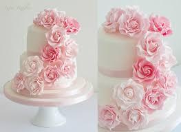 wedding cake roses wedding pink cascade wedding cake 2121479 weddbook