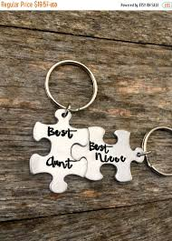 best best niece puzzle key chains auntie and me