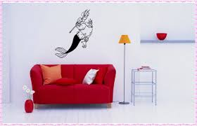 wonderful mermaid wall decals home decorations ideas image of mermaid wall decals photo