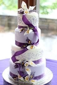 wedding cake lavender lavender and white sugar calla wedding cake cakecentral