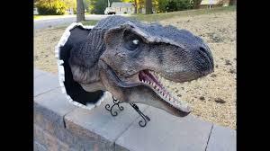 Dinosaur Head Wall Mount Jurassic Park Dinosaur T Rex Wall Mount Bust Prop Replica Jurassic