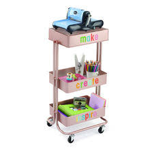 Rolling Carts Ikea Rose Gold Lexington 3 Tier Rolling Cart By Recollections Ikea