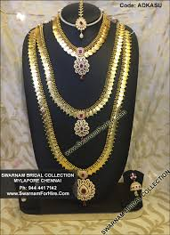 bridal set for rent swarnam rent american diamond kasumalai wedding jewelry set
