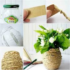 Creative Flower Vases How To Diy Kraft Paper Decorated Flower Vase