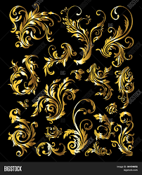 flowers plants gold ornament vector photo bigstock