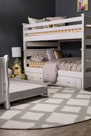 contemporary youth full over full bunk bed in white mathis
