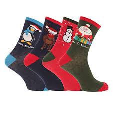 mens christmas socks mens christmas design novelty socks pack of 4 uk shoe 7 11 eur