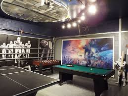 new star wars themed game room full of activities to keep the kids