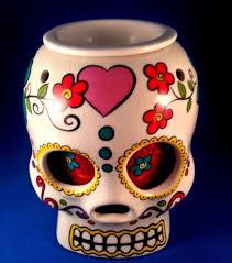 sugar skull wax warmer sugar skulls day of the dead halloween