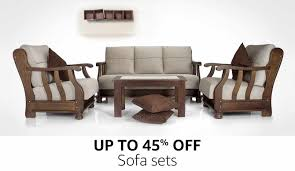 living room wood furniture sofas buy sofas couches online at best prices in india amazon in