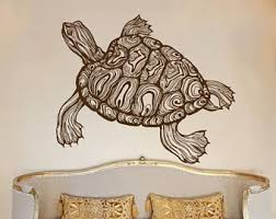 Sea Turtle Bathroom Accessories Turtle Wall Art Etsy